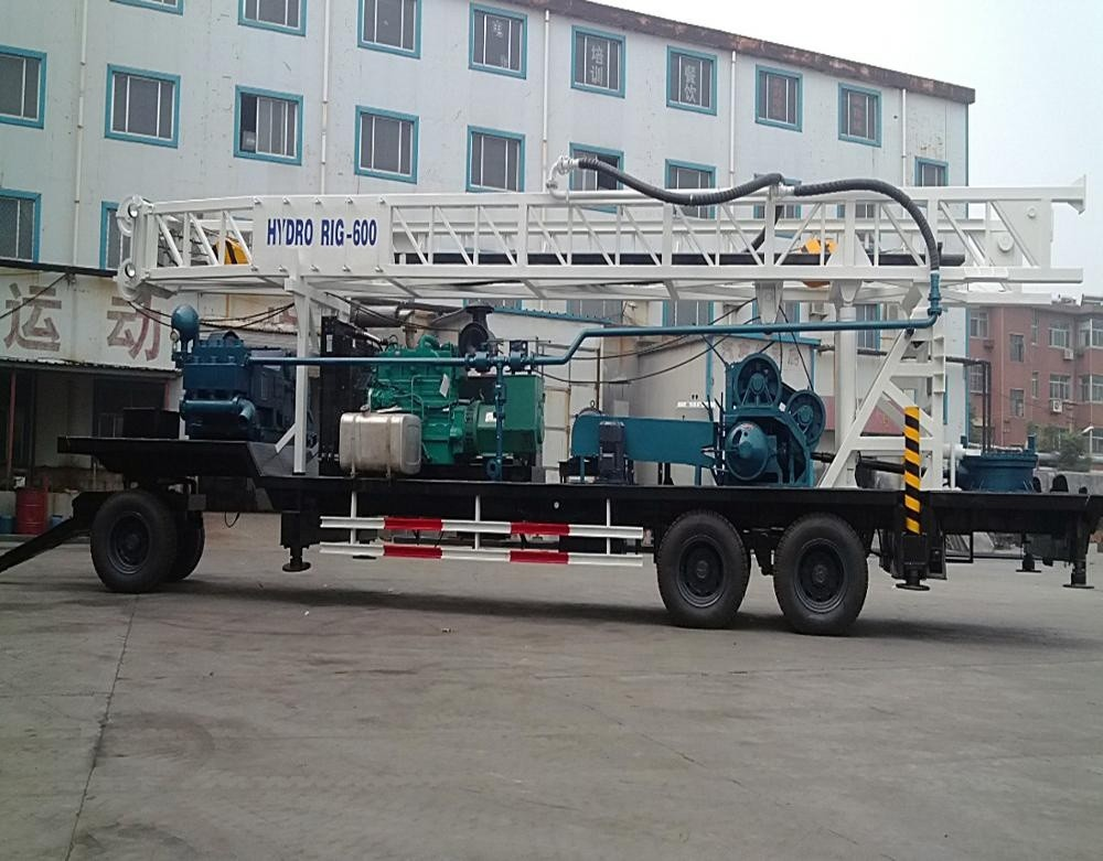 24 T 380Volt BZT600 Water Well Drilling Equipment / Rotary Drilling Rig