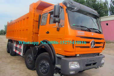 Orange BEIBEN North Benz Dump Truck, 12 Wheeler 8x4 Tipper Truck NG80B